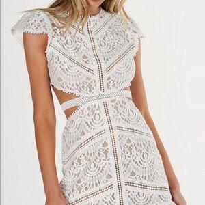 NWOT Necessary Clothing Sweet Doily Crochet Dress